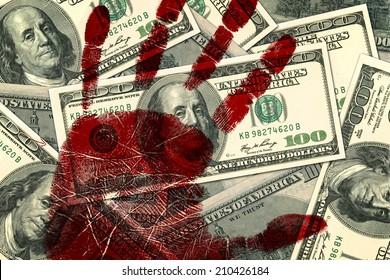 Hundred dollar bills background