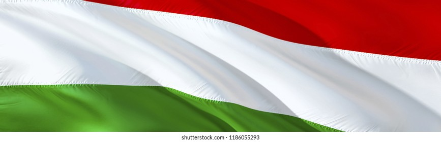 Hungarian flag. 3D rendering Waving flag design. The national symbol of Hungary. 3D Waving sign design. Waving sign background wallpaper. Hungarian 3D pattern background download HD wallpaper graphics
