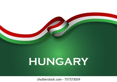 Hungary sport style flag ribbon classic style