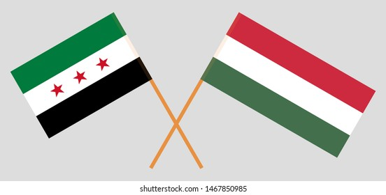Hungary and Syria opposition. The Hungarian and Syrian National Coalition flags