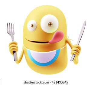 Similar Images, Stock Photos & Vectors of Hungry emoticon