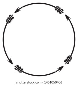 hunting arrows round or circle