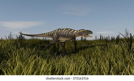 hunting aucasaurus
