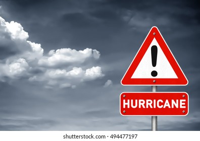 Hurricane attention road sign