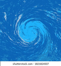 A hurricane, cyclone, typhoon, or tropical storm abstract background that suggests debris being pulled into the counter-clockwise vortex. From a photo of a natural spring.