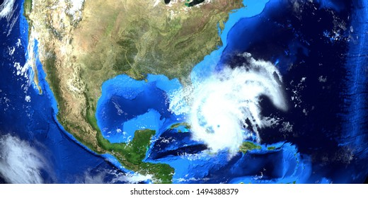 Hurricane Dorian Extremely Detailed and realistic high resolution 3D image. Shot from Space. Elements of this image are furnished by NASA.