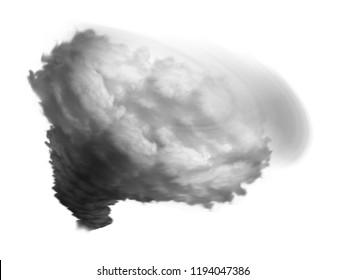 hurricane or tornado 3d illustration