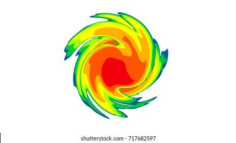 Hurricane Weather Map Graphic