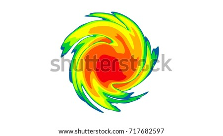 Tornado Symbol On Weather Map.Hurricane Weather Map Graphic Stock Illustration 717682597