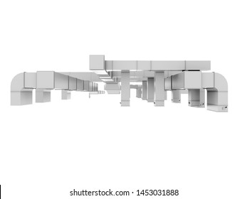 """HVAC Duct Ventilation pipes  """"3D illustration"""""""