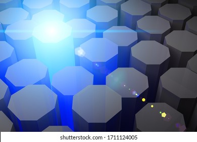 Hybrid Silicon Laser Nano Photon Emit Science Tech Art Concept Design 3D rendering.
