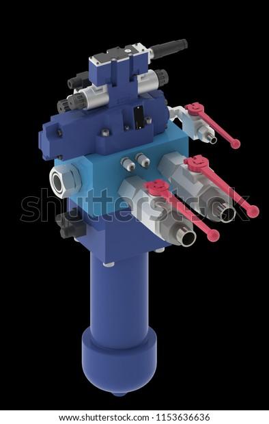 Hydraulic Manifold Control Unit Hydraulic System Stock