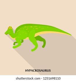 Hypacrosaurus icon. Flat illustration of hypacrosaurus icon for web design