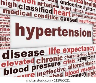 Hypertension medical poster design. Health care risk factor message background