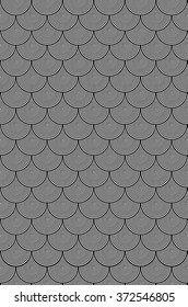 Hypnotic Black and White Circle Scales Pattern is a background design of black and white circles that reduce into each other laid out in a staggered grid pattern.