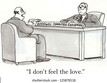 """""""I don't feel the love"""" employee says to Goodwill Committee Chairman."""