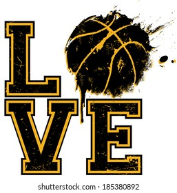 """""""I love Basketball""""  - suitable for posters, flyers, brochures, banners, badges, labels, wallpapers, web design, advertising, publicity or any branding."""