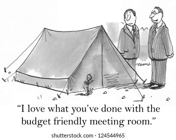 """I love what you've done with the budget friendly meeting room."""