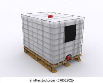 IBC Container 3d rendering