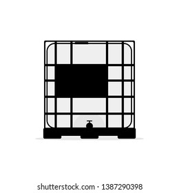 ibc container icon. Clipart image isolated on white background