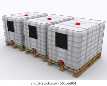 IBC Container isolated 3d rendering