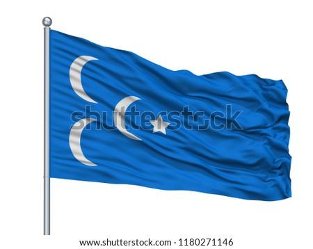 ibda great eastern islamic raiders flag stock illustration