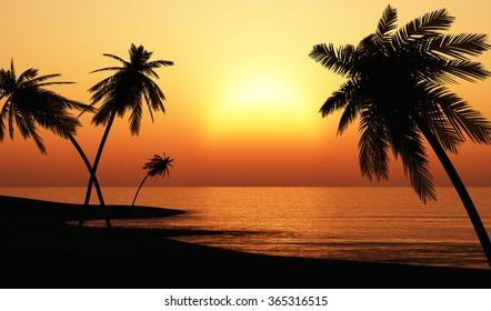 Ibiza Sunset chill out Beach
