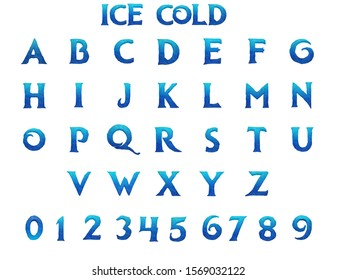 Ice Cold Alphabet - 3D Rendered Illustration