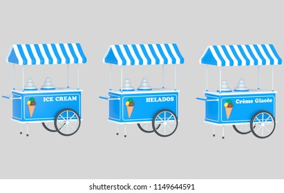 Ice cream car. 3d illustration