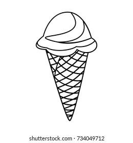 ice cream cone outline