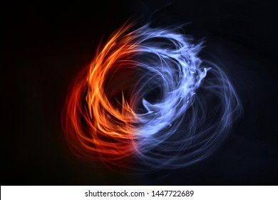The ice and fire! blend of red and blue flames