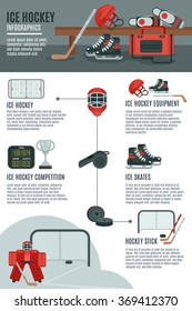 Ice hockey infographic layout banner