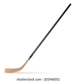 Ice hockey stick isolated on white background. Raster copy