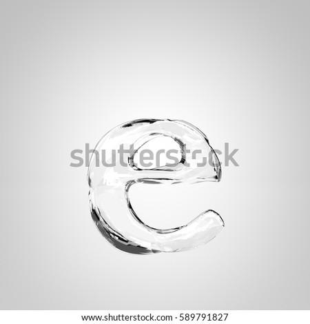 Ice Letter E Lowercase 3 D Rendering Stock Illustration 589791827
