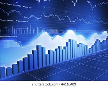Ice Series Stock with Stock Market Ticker