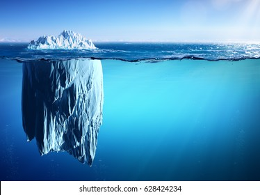 Iceberg - Appearance And Global Warming Concept - 3D Rendering