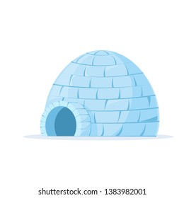 Iced igloo icon. Clipart image isolated on white background