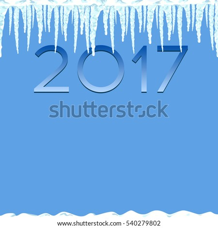 icicles seamless pattern winter background illustration stock