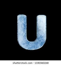 Icing alphabet. Letters on dark background. 3D illustration