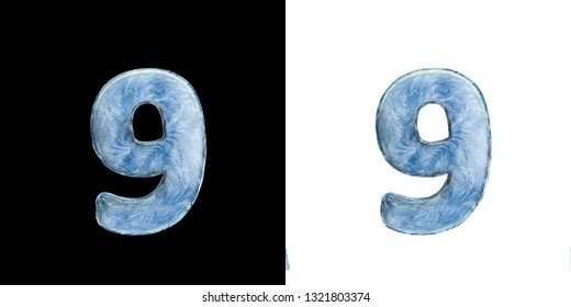 Icing alphabet. Set: isolated letters on white and dark background. 3D illustration