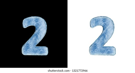 Icing alphabet. Set: isolated numbers on white and dark background. 3D illustration