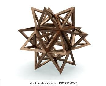 Icofaedron, Leonardo da Vinci, Divina Proportione book page 241. 3D model
