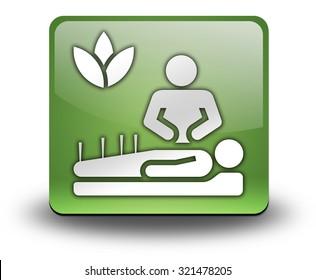 Icon, Button, Pictogram with Alternative Medicine symbol