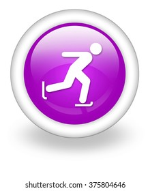 Icon, Button, Pictogram with Ice Skating symbol