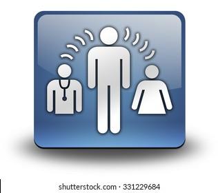 Icon, Button, Pictogram with Interpreter Services symbol