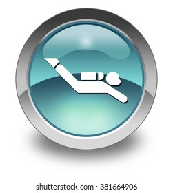 Icon, Button, Pictogram with Scuba Diving symbol