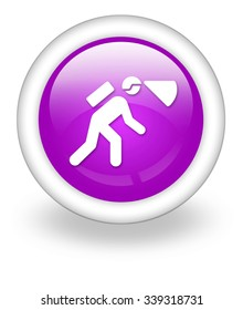 Icon, Button, Pictogram with Spelunking symbol