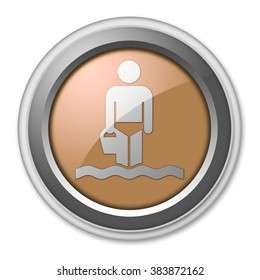 Icon, Button, Pictogram with Wading symbol