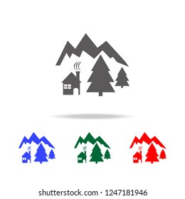 Icon for chalets and mountain holidays icon. Elements of Christmas holidays in multi colored icons. Premium quality graphic design icon. Simple icon for websites, web design