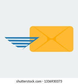Icon of the covert. The icon for sending a message or an email. image.